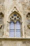 Gotisch venster royalty-vrije stock afbeelding
