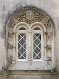 Gotisch venster stock fotografie