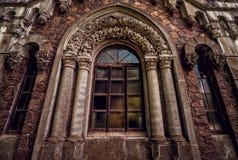Gotisch venster met kolommen Royalty-vrije Stock Fotografie