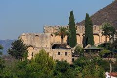 Gotische Abbey Bellapais Van Augustinus Noordelijk Cyprus stock foto