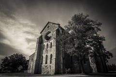 Gotische Abtei Toskana Lizenzfreies Stockfoto