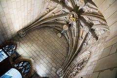 Gotische architectuur gedateerd 15de eeuw Stock Afbeelding