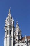 Gotische basili?a van Lissabon twee torens Royalty-vrije Stock Afbeeldingen