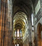 Gotische binnenlandse tempel Stock Afbeelding