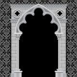 Gotische boog op uitstekende achtergrond Royalty-vrije Stock Afbeeldingen