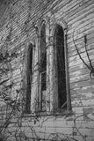 Gotische boogvensters Stock Foto