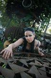 Gotische dame stock afbeelding