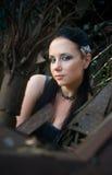 Gotische dame stock foto's