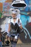 Gotische Dame der Welle an Gotisch-Festival 2009 Lizenzfreies Stockfoto