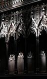 Gotische Dekorationen eines Chores einer Kirche Stockfoto
