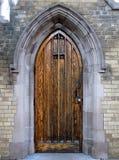 Gotische deur Stock Foto's