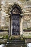 Gotische deuropening Stock Fotografie