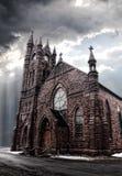 Gotische e-ähnlich Kirche Lizenzfreies Stockbild
