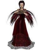 Gotische Fee in Rood Royalty-vrije Stock Afbeeldingen