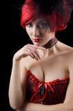 Gotische Frau im Korsett stockbilder