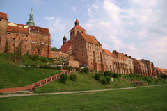 Gotische gebouwen in Grudziadz Royalty-vrije Stock Afbeelding