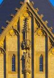Gotische geveltop Stock Foto's