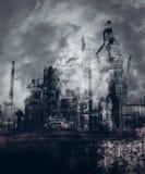 Gotische Industriestadt stockbild