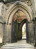 Gotische ingang Royalty-vrije Stock Afbeeldingen