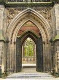 Gotische ingang Stock Foto
