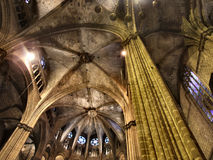 Gotische kathedraal in Barcelona stock afbeeldingen