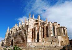 Gotische Kathedraal in Majorca Stock Foto's