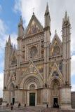 Gotische Kathedraal van Orvieto stock afbeeldingen