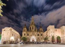 Gotische Kathedrale in Barcelona Stockfotografie