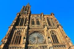 Gotische Kathedrale Straßburgs - Straßburg-Münster Stockbild