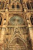 Gotische Kathedrale Stra?burgs stockfotos