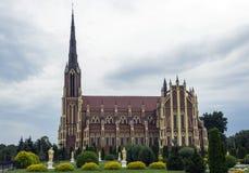 Gotische katholische Kirche Lizenzfreies Stockbild