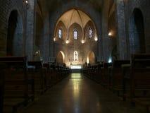 Gotische kerk binnenlandse figueres Spanje Stock Afbeeldingen
