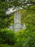 Gotische Kerk dichtbij Kylemore-Abdij, Provincie Galway, Ierland Stock Foto