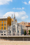 Gotische Kerk in Rome, Italië Royalty-vrije Stock Fotografie