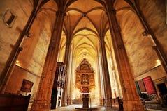 Gotische kerk in Sebes Stock Foto's
