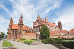 Gotische kerk in Vilnius stock fotografie