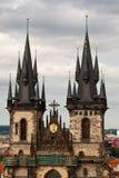 Gotische Kirche in Prag Stockbilder