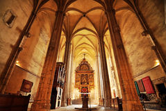 Gotische Kirche in Sebes Stockfotos
