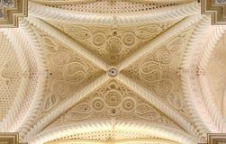Gotische kluis, erice, van hierboven Stock Fotografie