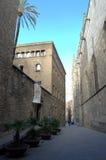 Gotische Kwartstraat, Barcelona stock afbeelding