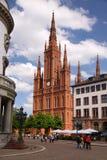 Gotische Markt-Kirche Stockbild