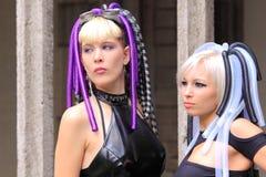 Gotische meisjes Stock Foto's