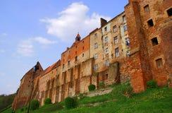 Gotische middeleeuwse graanschuuren Stock Foto