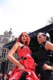 Gotische modellen op de loopbrug Royalty-vrije Stock Foto