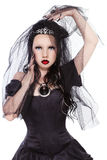 Gotische prinses Stock Foto's