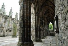 Gotische Ruine - Holyrood-Abtei Stockbild