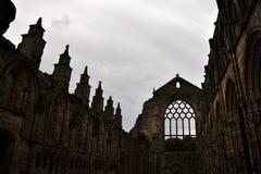 Gotische Ruine - Holyrood-Abtei Stockfotografie