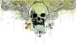 Gotische schedelillustratie Stock Afbeelding