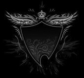 Gotische Schild-Abzeichen lizenzfreie abbildung