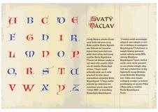 Gotische Schutzkappen - Alphabet Stockfotografie